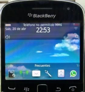 Teléfono no permitido MM6   Motivo y SoluciónZona BlackBerry